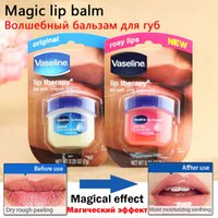 Wholesale 2017 Hot Vaseline Cream Rosy Lip Balm Lasting Long Lip Therapy Soft and Smooth Lips makeup Anti Wrinkle Aging Refresh Nourish