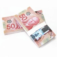 Wholesale 100Pcs Set Paper Money Canadian Dollar Notes Training Collect Learning Banknotes Money Size