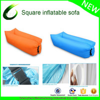 Wholesale Ultralight ripstop waterproof nylon good quality Lay bag banana air sleeping bag inflatable lounge couch chill bag air bed