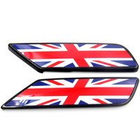 Wholesale Brand New ABS Material UV Protected Black Color Union Jack Style Replacement Side Lamp Cover For Mini Cooper F54 Set