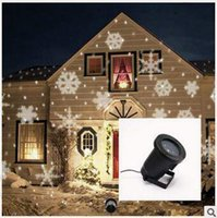 acrylic flakes - Snow Flake Projector Waterproof Moving Snow Laser Projector Lamps Snowflake LED Stage Light For Christmas Party Light Garden CCA5247