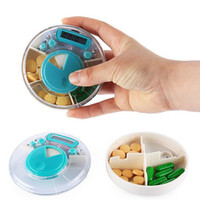 Wholesale Portable Intelligent Electronic Timing Pill Reminder Alarm Medicine Storage Box Compartments