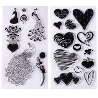 Wholesale Sheet Silicone Transparent Clear Seal Stamp DIY Scrapbooking Photo Album Diary Craft