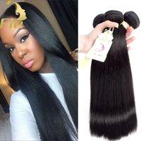 3Bundles cabello recto Remy cabello Bundles brasileño peruano indio de Malasia mongol remy Virgin cabello humano tejer bultos al por mayor