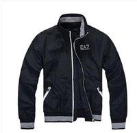 korean men fashion - new hot men EA7 spring and autumn winter zipper Slim thin coat windbreaker jacket Korean version