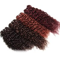 Wholesale Curly Remy Hair For Sale - Jerry Curly Multi Color Human Virgin Hair Wefts Brazilian Remy Human Virgin Hair Bundles 3PCS 300G Lot First Grade Curly Hair Weft For Sale