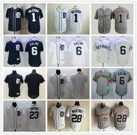 al kaline baseball - Discount Detroit Tigers Baseball Jerseys Jose Iglesias Al Kaline JD Martinez Blank Jersey Gray White Blue High Quality
