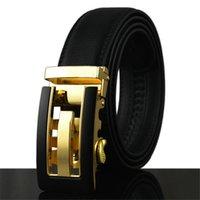 Wholesale 2017 new designer men letter buckle belt high quality Cowskin leather big size belt fashion luxury for mens belt