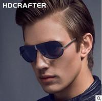 hdcrafter nueva gafas de sol sin marco rana espejo polarizacin hombres gafas de sol velocidad venta tong gafas estilo caliente