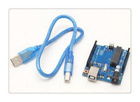 Wholesale DHL Hot UNO R3 ATmega328P ATmega16U2 Version Development Board USB Cable Fr Arduino VE099 W0 SUP5