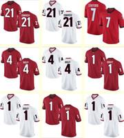bailey jerseys sale - Men s Sinkwich Stafford Bailey Dooley Richt Georgia Bulldogs Red white Personalized Customized NCAA jerseys Hot Sale Top Quality