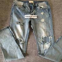 Men best flies - Men s Best version fear of god FOG men Selvedge zipper destroyed skinny slim fit justin bieber Vintage ripped blue denim jeans