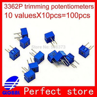 Wholesale G278 Trimpot Trimmer potentiometers Assorted Kit Single Turn P ohm Mohm variable resistor values pc