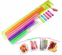Wholesale 100Packs Good Lock Magic Bag Sealer Stick Unique Sealing Rods Great Helper For Food Storage Sealing Cllip Camp Clip