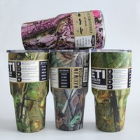 Wholesale 4 color new camouflage color yeti cups for oz cup stainless steel camo mug camo handle with logo DHL only
