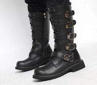 Cheap Mens Knee High Motorcycle Boots | Free Shipping Mens Knee ...