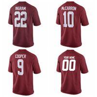 Wholesale Mark Ingram Amari Cooper AJ McCarron Alabama Crimson Tide Jersey Crimson Custom Any Team N Players College NCAA Running Jerseys