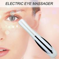 Wholesale Beauty Care Mini Massage Eye Massage Stick Eyes Wrinkle Removing Pen Black Eye Massage Instrument Vibration Beauty Pen By DHL