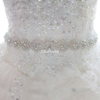 Wholesale New Arrival Crystal Rhinestone Bridal Sash Belt Wedding Belt Classic Bridal Accessory Prom Evening Belt Tie Back Cheap Luxury