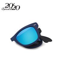 al por mayor venta al por mayor gafas de sol plegables-Las mujeres al por mayor-A estrenar de Fahsion que doblan la gafas de sol de la gafas de sol de Sunglass de la vendimia de los hombres de las gafas de sol de los hombres Oculos De Sol