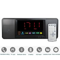 Wholesale 5W Digital Radio FM Receiver Bluetooth Speaker with Remote Control Alarm Clock FM Stereo Receiver MP3 Player Portable Radio
