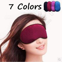 Wholesale 7 Colors Bamboo Charcoal Cotton Cloth Eye Mask Sleeping Blindfold Eyeshade Cover Mask For Nap In Travel Sleep Masks CCA5291