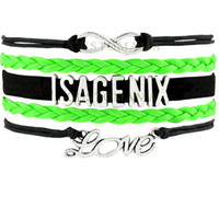 best sports companies - Custom Infinity Love ISAGENIX Flower Multilayer Wrap Bracelet Best Gift Black Lime Green Leather Women s Fashion Company Jewelry