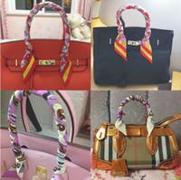 Wholesale Ribbon Tied Bags Scarf Handbag Handle Twilly Decoration Accessories Bow Headband Scarf Stripe Outdoor Sport Scarf RRA43