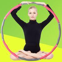 Wholesale itness removable hula hoop Rainbow ball massage hula hoop lose weight hula hoop waist fitness ring massage foam