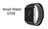 Wholesale Popular GT08 smart watch Clock Sync Notifier with Sim Bluetooth Smartwatch for Apple IOS huawei Samsung Android Phone PK DZ09 A1