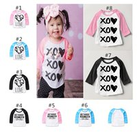 Wholesale 2017 Baby Unisex Clothing Spring Autumn Fashion Letter T Shirts Clothes For Girls Europe Newborn Boys Girls Cotton Tops Outfits