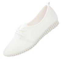 Wholesale Vintage Women Flat Shoes White