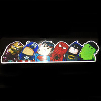 Wholesale Super Hero Stickers Save The World Car Motorcycle Stickers Decal Car Styling Funny Cartoon Reflective Car Sticker Accessories