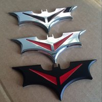 Wholesale new style batman Car d Logo Chrome Emblem Badge Self Adhesive Badge Decal superman bat comics The Dark Knight Vinyl Decal Sticker