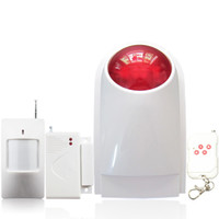 alarm transmission - DC V MHZ Wireless RFID transmission burglar outdoor steable home alarm system keypad compatible db strobe flashing Siren