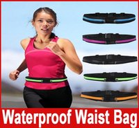 Wholesale Waist Packs Bags Multifunctional Waterproof Sport Waist Bag Running Cycling soprts Bag Single Double Pockets colors