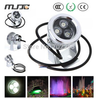 Wholesale Stainless Steel V DC W Submersible Underwater Koi Pond LED Lights IP65 Red Yellow Blue Green Warm Cool White Outdoor Lamp