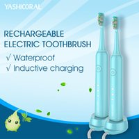 Wholesale Rechargeable Electric Sonic Toothbrush Waterproof Intelligent Frequency Inductive Charging with Replaceable heads for Oral Hygiene