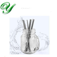 bending decor - Stainless steel drinking straws for yeti tumbler reusable kids party straw decor bent straight long cleaning brush bar cocktail tools