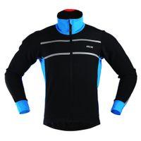 Wholesale ARSUXEO Running Waterproof Jacket Outdoor Running Sweatshirt Winter Jacket Men Cycling Clothing Free Shihpping