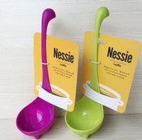 Wholesale Hot selling spoon Creative cooking tool Nessie Ladle Soup Long handle vertical monster Plastic spoon