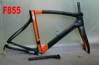 Wholesale F8 Yellow Bicycle Bike Frame Di2 Carbon Road Frameset Matte Accept Painting