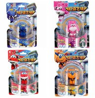 Wholesale 2016 New Styles Super Wings Mini Airplane Action amp Toy Figures Transformation Robot Jet Animation Children Gift