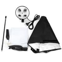 Wholesale Freeshippig Digital Photo Studio Kit Photography Lighting Socket Lamp Holder x70CM Softbox Photos Soft Box Not Included m Light Stand