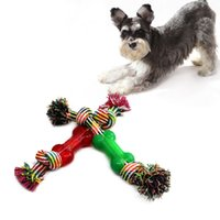 Wholesale 2016 pet dog toys molar tooth cleaning resistance to bite pet toys training playing and chewing color sent at random