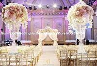 Wholesale Luxury wedding pillars column wedding stage walkway stand crystal aisle pillar for weddings decor