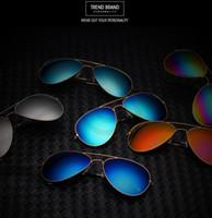 aviator mirror sunglasses - Fashion Designer Sunglasses Classic Women Men Eyeglasses Retro Aviator Mirror Reflective Lens Sunglasses Vintage Outdoor Frog Eyewear F75