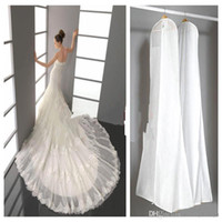 accessories bridal bag - 2017 Wedding Dress Bags White Dust Bag Travel Storage Dust Covers Bridal Accessories For Bridal Garments CPA424