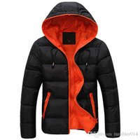 Wholesale Mens shirt brand in new men s cotton blended coat even hat cotton padded jacket leisure thick coat in winter with the size