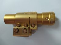 Wholesale Golden Laser Scope Red Dot Sight Fit For mm mm Rail with Mount Fast shipping